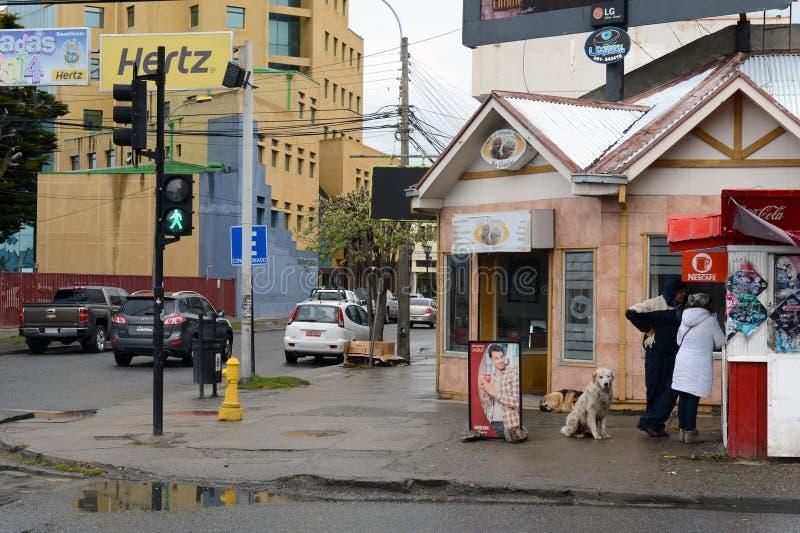 Na rua de Punta Arenas fotos de stock royalty free