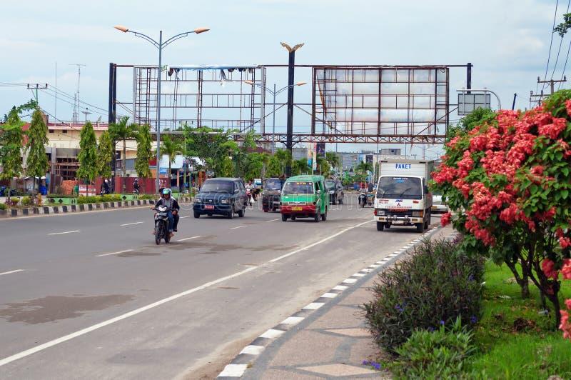 Na rua em Dumai indonésia foto de stock royalty free