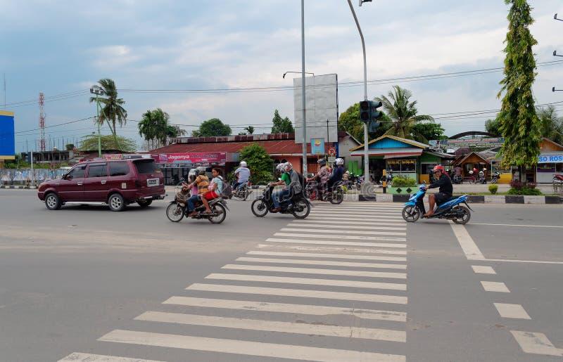 Na rua em Dumai indonésia fotos de stock