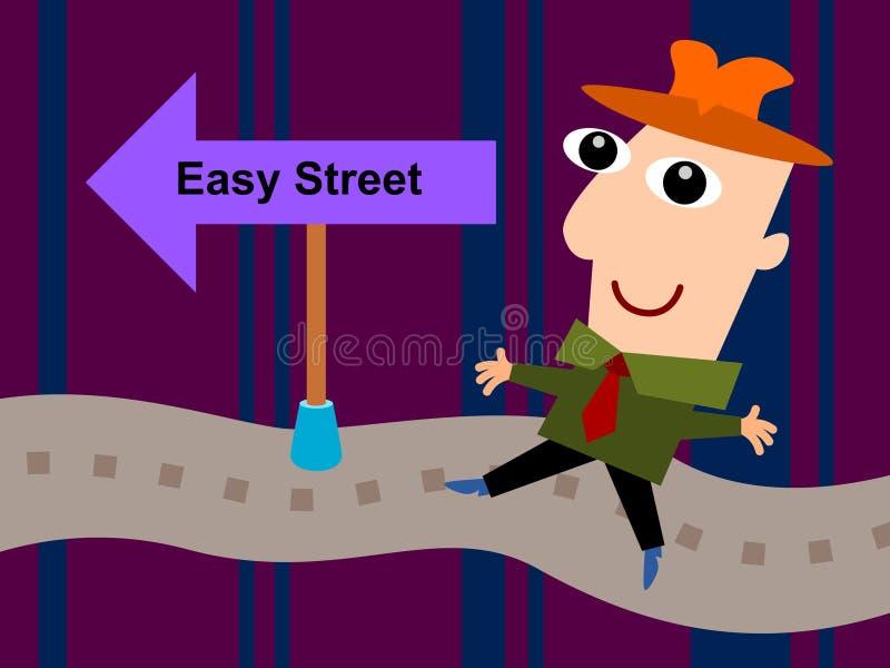 Na rua fácil ilustração stock