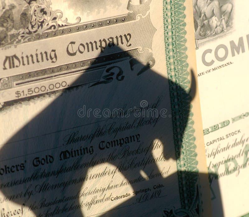 na rynku akcji górnictwa fotografia royalty free