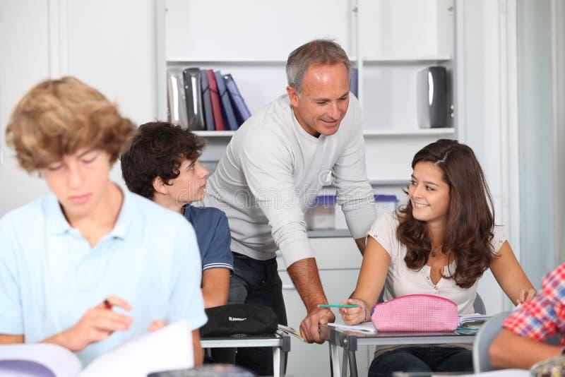 Na sala de aula imagens de stock