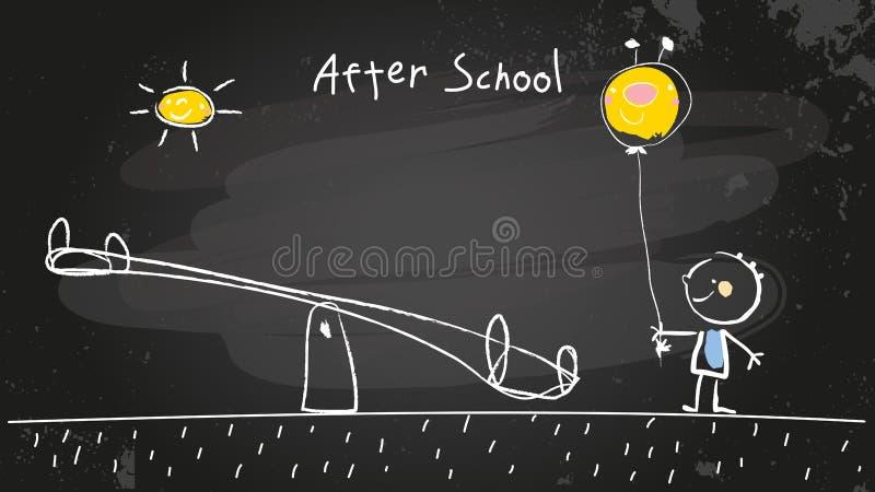 Na school stock illustratie