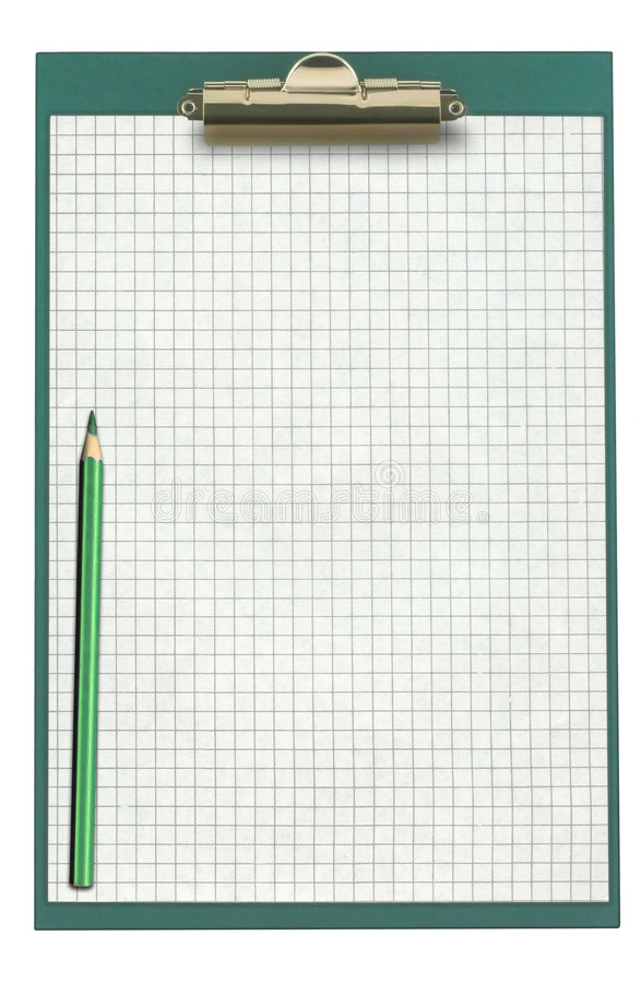 Na Schowku wykresu Papier obraz stock