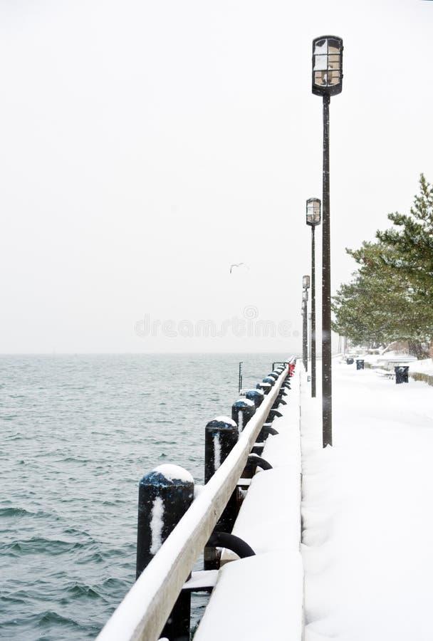 Na sneeuw stock foto's