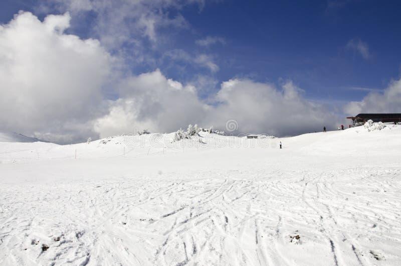 na snowboard nachylenia obrazy stock
