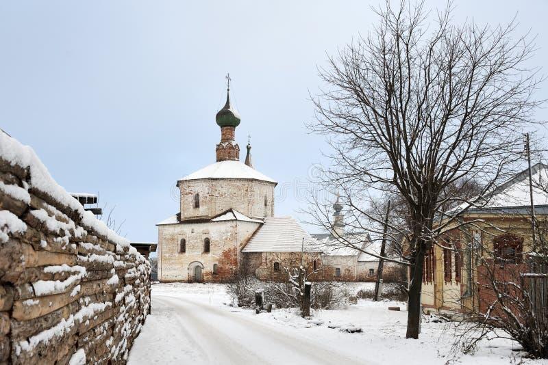 Na sposobie egzaltacja Święty Przecinający kościół w Korovniki zdjęcie royalty free