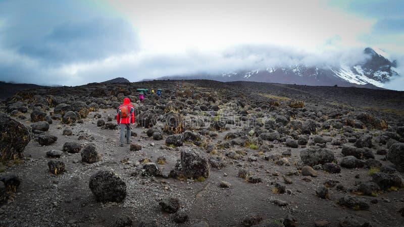 Na sposobie kilimanjaro odgórny widok obrazy royalty free