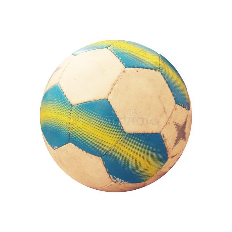 na starej piłki nożnej zdjęcie royalty free