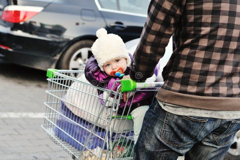 Na supermarkt royalty-vrije stock fotografie