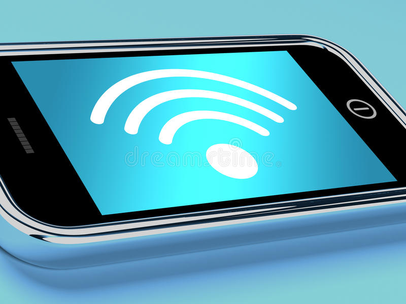 Na Telefon Komórkowy Wifi Połączenie Z Internetem ilustracja wektor
