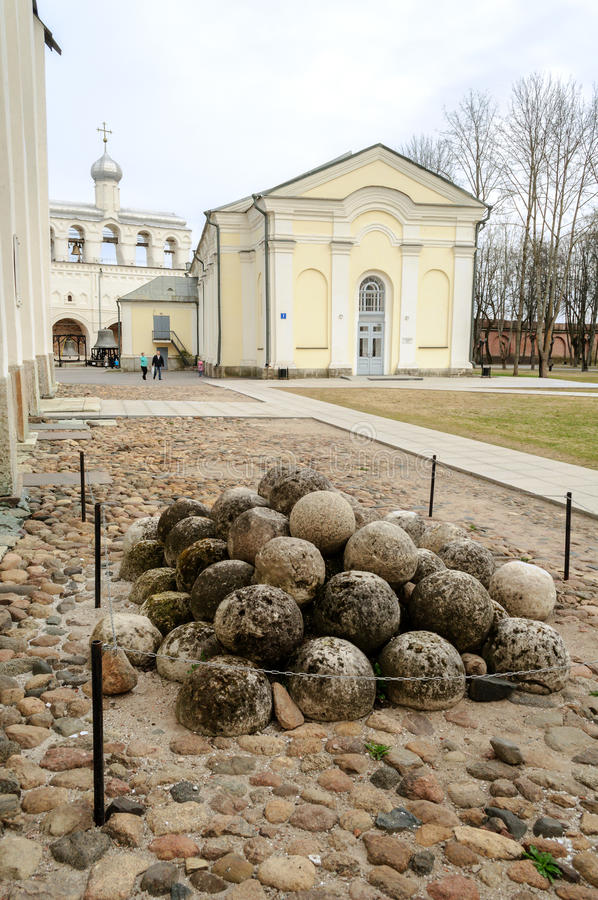Na terytorium Novgorod Kremlin obrazy stock