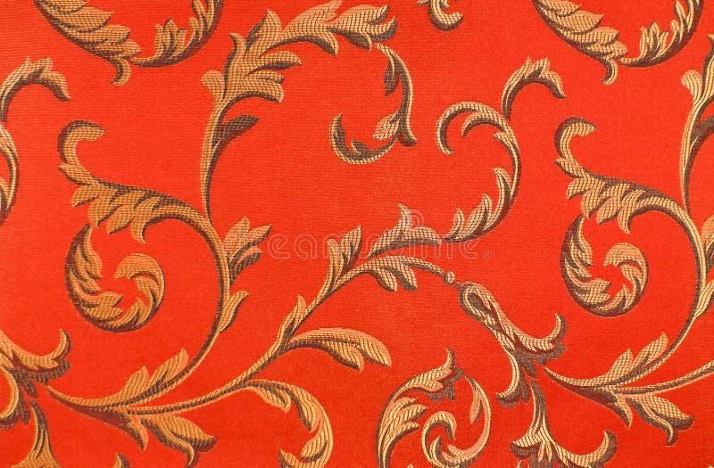 Na tkaninie kwiecisty wzór obraz royalty free