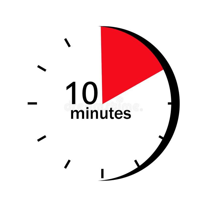 Na twarzy zegar zaznaczał sektor w 10 minutach royalty ilustracja