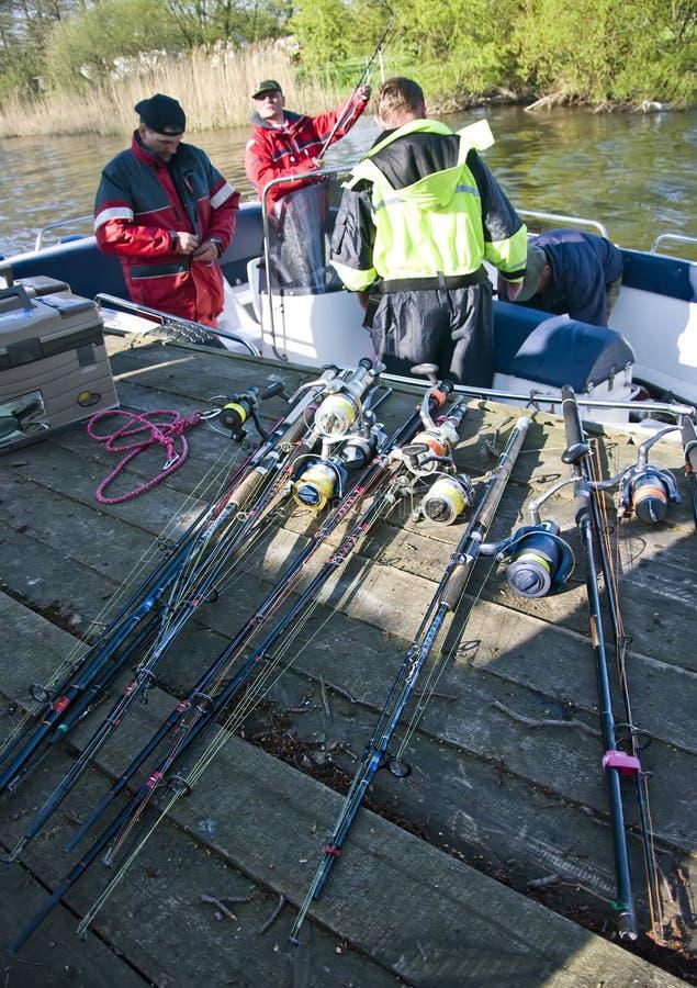Na visserijreis royalty-vrije stock foto's