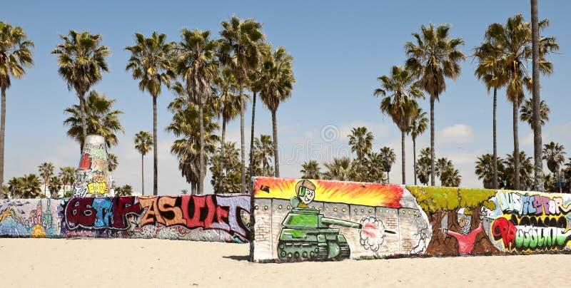 Na Wenecja plaży sztuk ściany, Los Angeles obraz stock