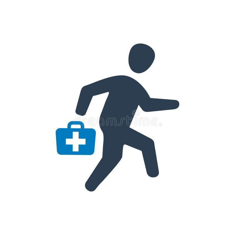 Na wezwanie lekarki ikonie royalty ilustracja