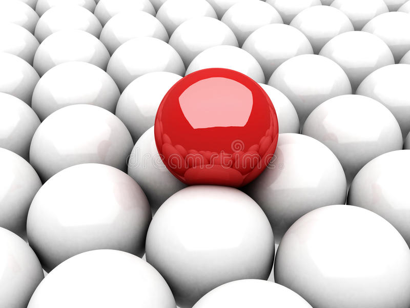 Na wiele biały piłkach czerwony balowy lider ilustracja wektor