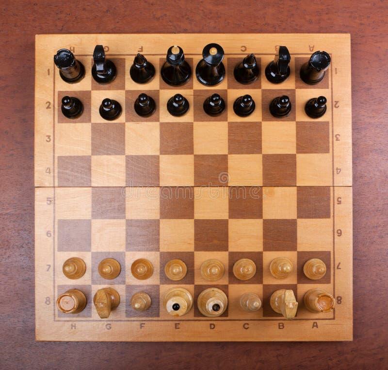 Na wierzchołku szachy deska fotografia royalty free