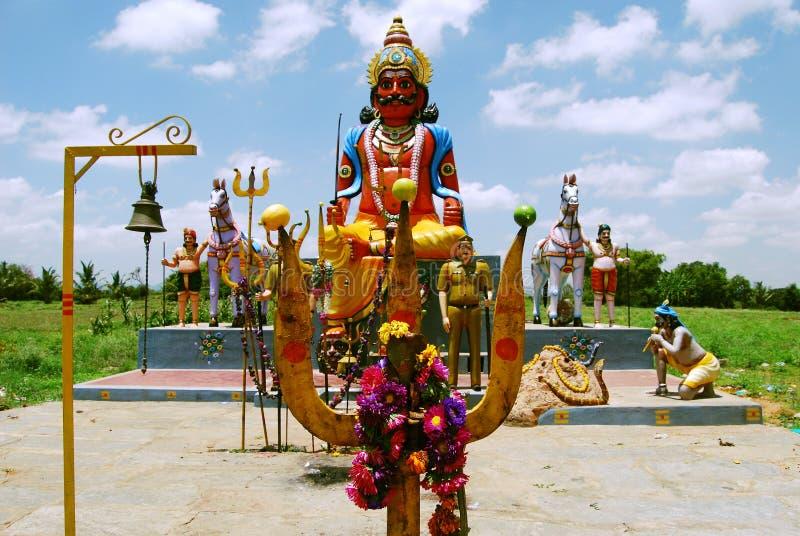 Na wolnym powietrzu świątynia w Południowym India obraz royalty free
