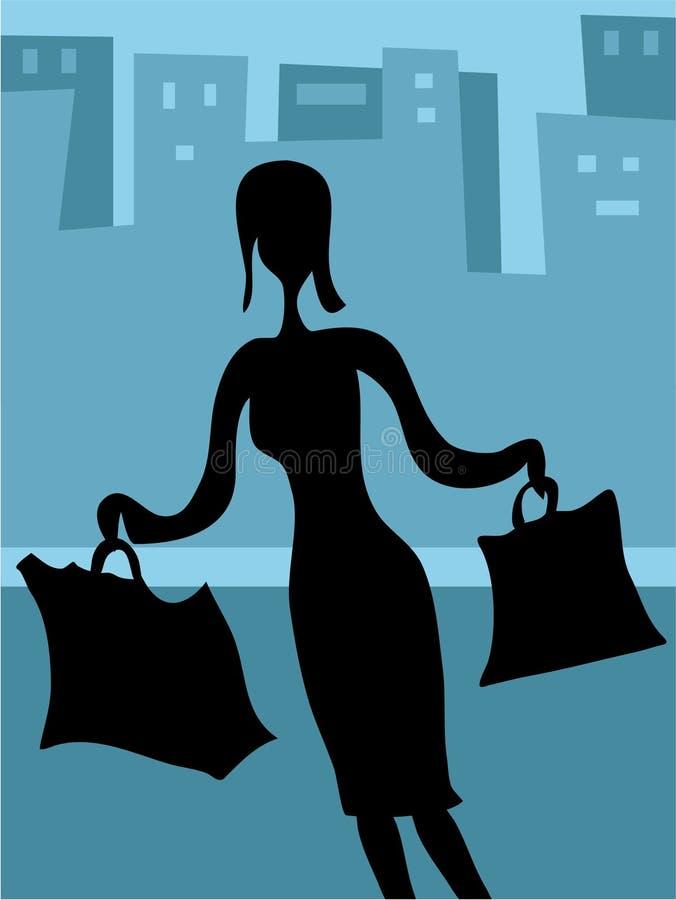 na zakupy. ilustracji