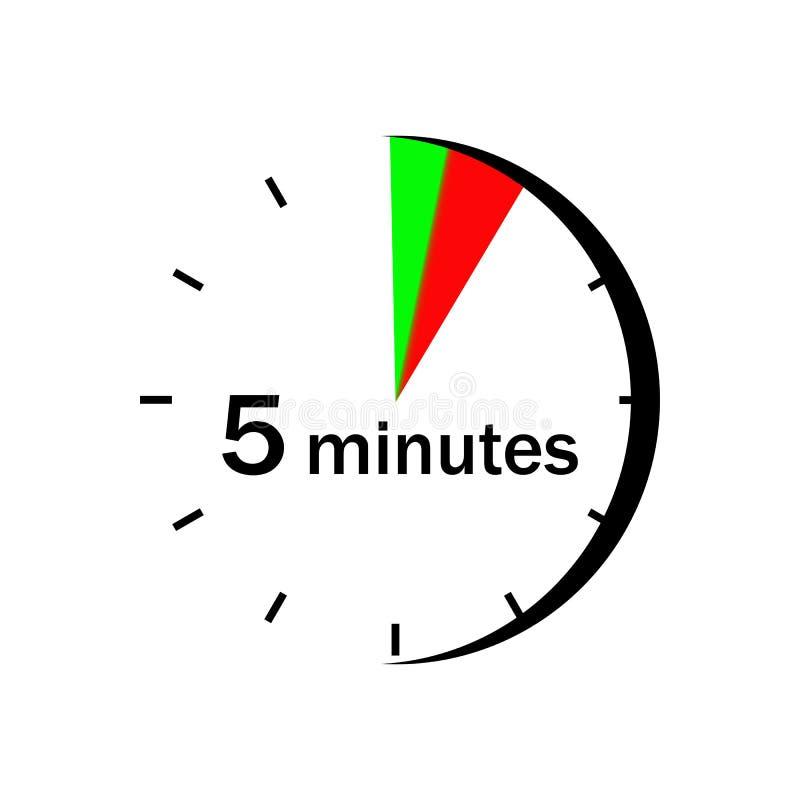 Na zegarek twarzy czerwień i zieleń zaznaczaliśmy sektor 5 minut royalty ilustracja