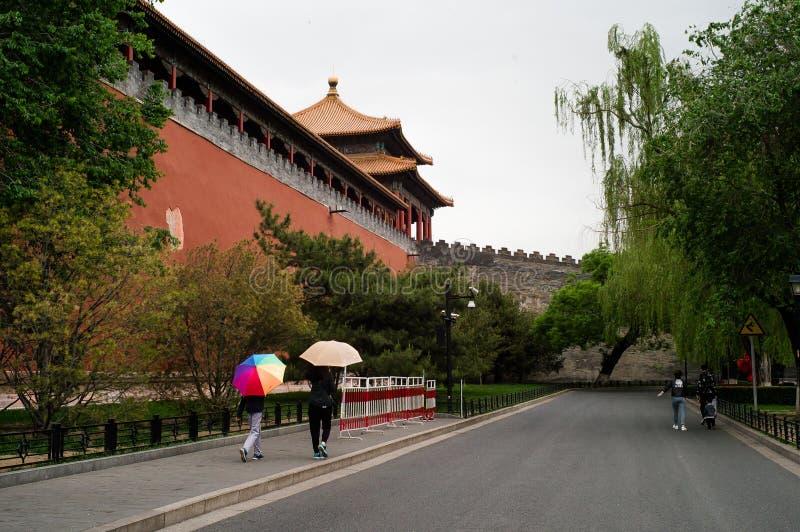 Na zewnątrz ściany Niedozwolony miasto, Pekin obraz stock