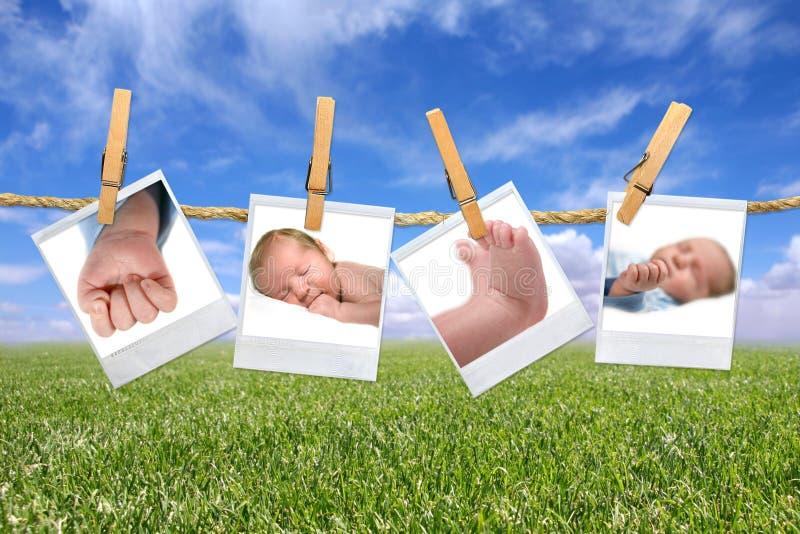 na zewnątrz fotografii dziecka obwieszenie fotografia stock