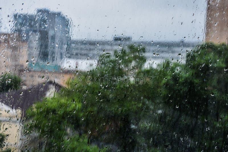 na zewnątrz okno rain obrazy stock