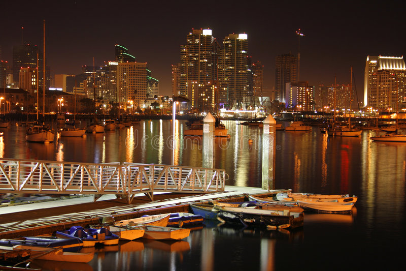 Na zonsondergang, San Diego, Ca royalty-vrije stock afbeelding