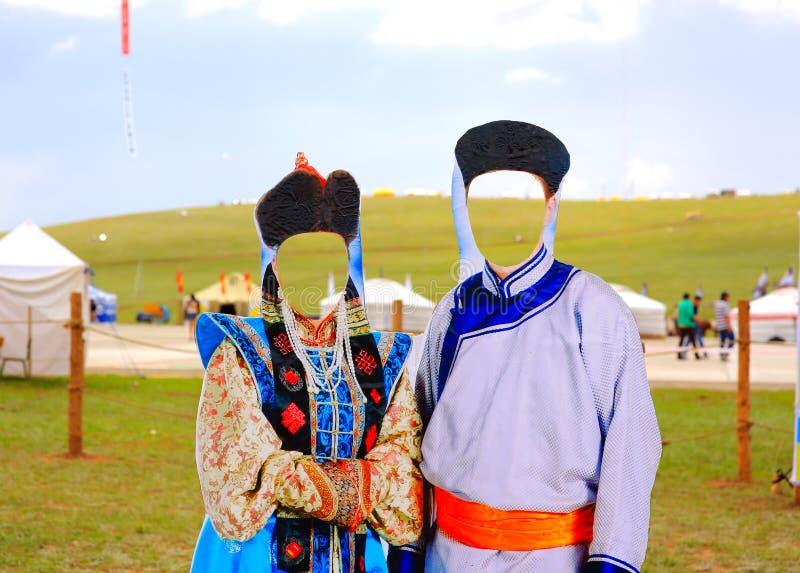 naadam在ulaanbataar的宿营地 库存照片