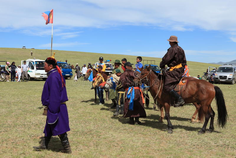 Naadam festiwal Mongolia zdjęcia royalty free