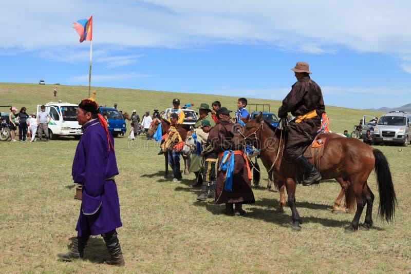 Naadamfestival Mongolië royalty-vrije stock foto's