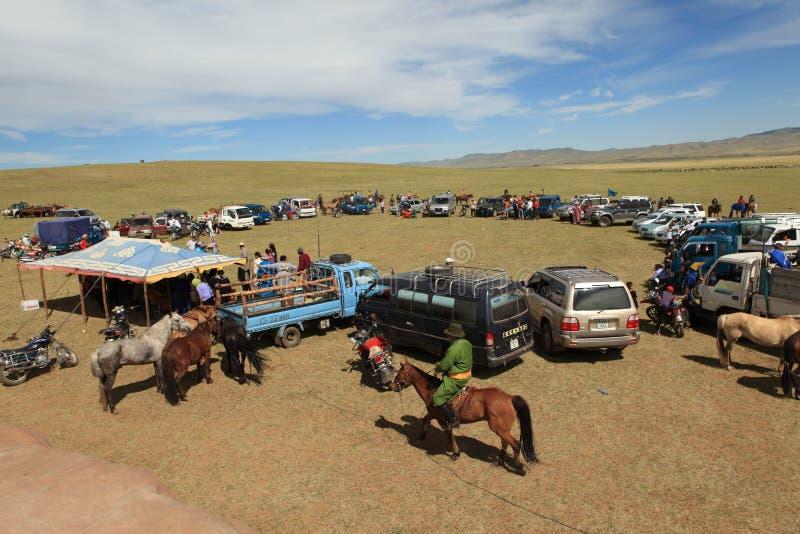 Naadamfestival Mongolië stock foto