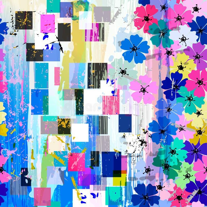 Naadloos abstract bloemenpatroon vector illustratie