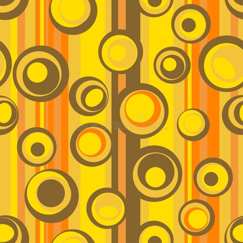 Naadloos abstract cirkelpatroon vector illustratie