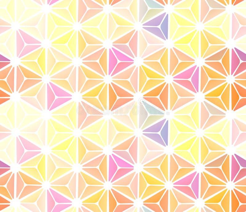 Naadloos abstract gebrandschilderd glasvenster met multicolored glazen vector illustratie