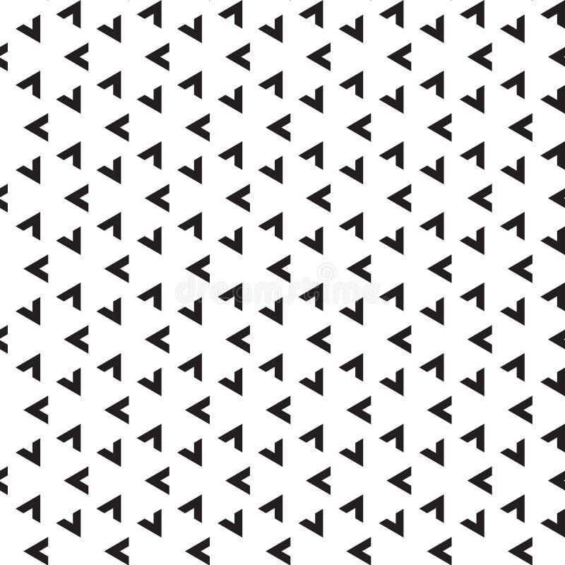 Naadloos abstract geometrisch pijl driehoekig patroon royalty-vrije illustratie