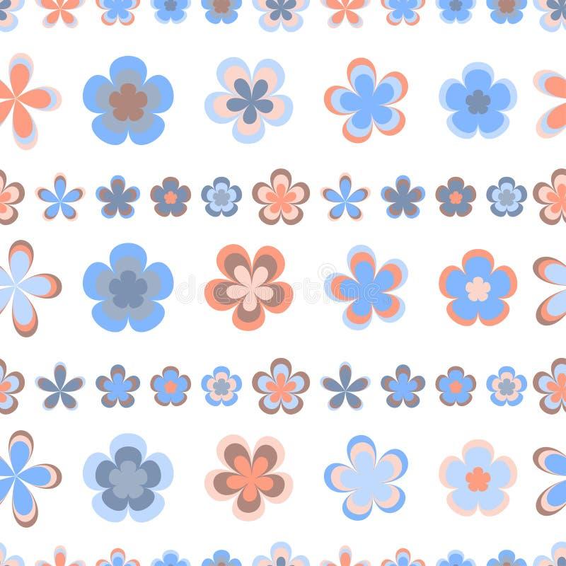 Naadloos abstract gestreept patroon van leuke roze en bruine geometrisch vector illustratie