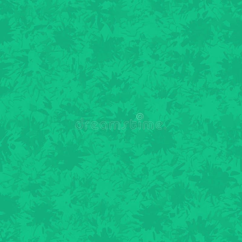 Naadloos abstract groen patroon met verschillende plonsen en vlekken stock illustratie