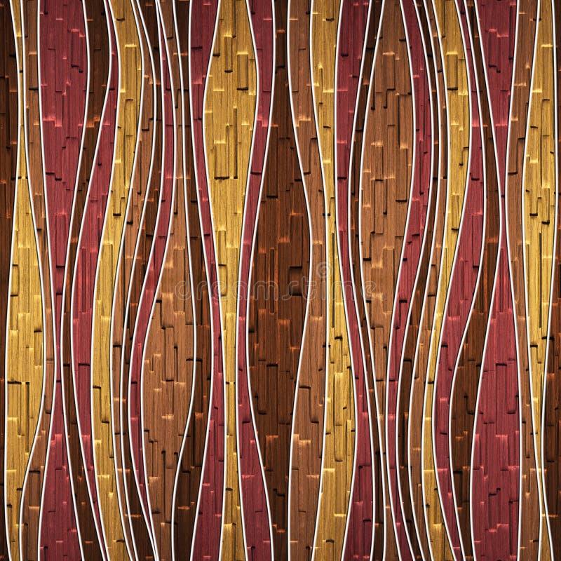 Naadloos abstract houten patroon royalty-vrije stock fotografie