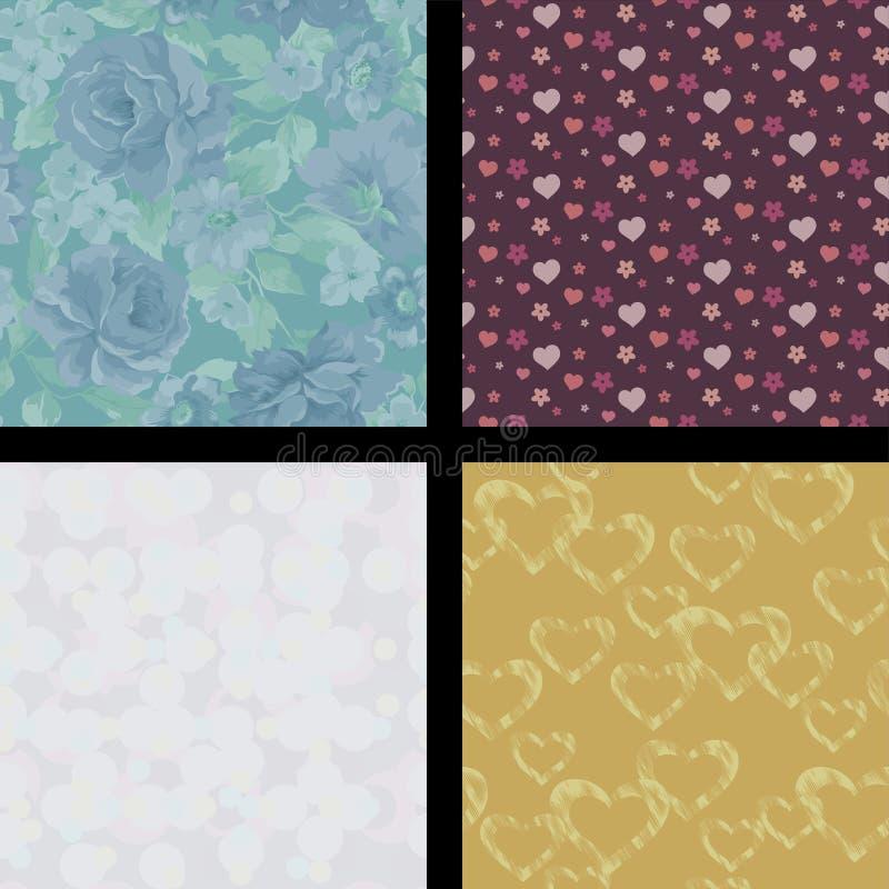 Naadloos abstract patroon stock afbeeldingen