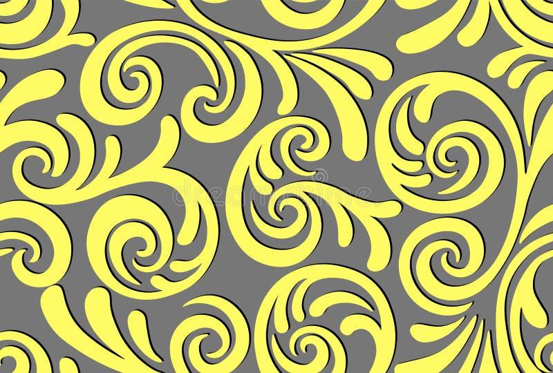 Naadloos abstract patroon als achtergrond Decoratieve achtergrond voor stof, textiel, verpakkend document, kaart, uitnodiging, be vector illustratie