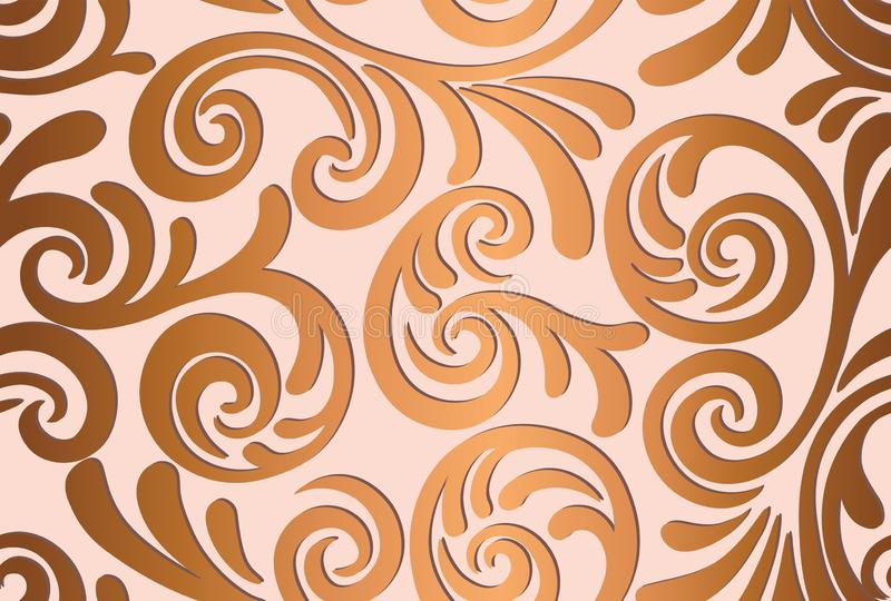 Naadloos abstract patroon als achtergrond Decoratieve achtergrond voor stof, textiel, verpakkend document, kaart, uitnodiging, be royalty-vrije illustratie