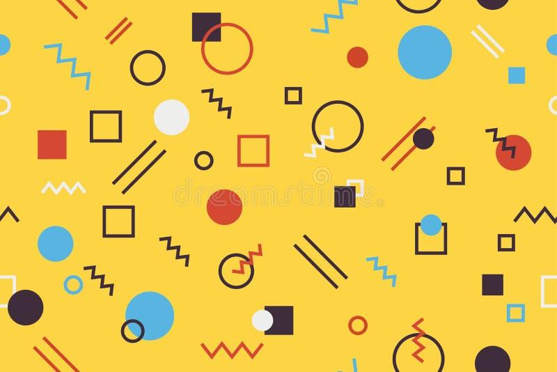 Naadloos, abstract patroon als achtergrond die met geometrische vormen wordt gemaakt vector illustratie