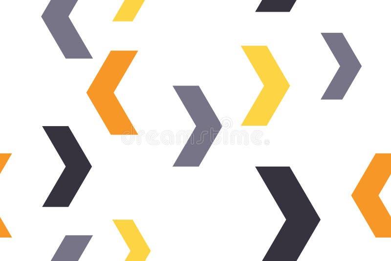 Naadloos, abstract patroon als achtergrond die met kleurrijke chevronvormen wordt gemaakt royalty-vrije illustratie