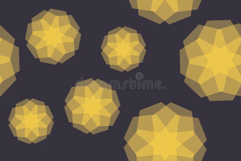Naadloos, abstract patroon als achtergrond die met transparante geometrische vormen i wordt gemaakt stock illustratie