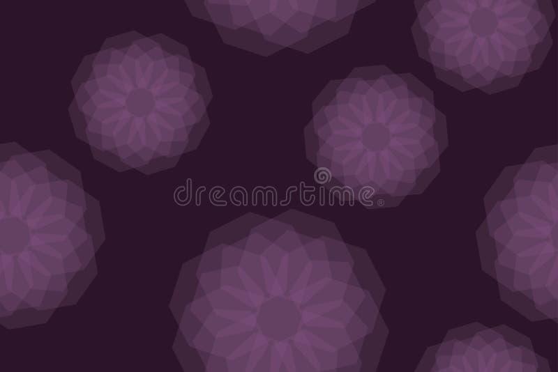 Naadloos, abstract patroon als achtergrond die met transparante geometrische vormen i wordt gemaakt vector illustratie