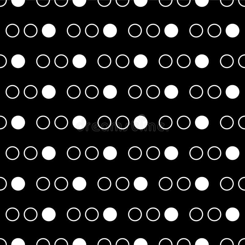 Naadloos abstract patroon van cirkels en punten vector illustratie
