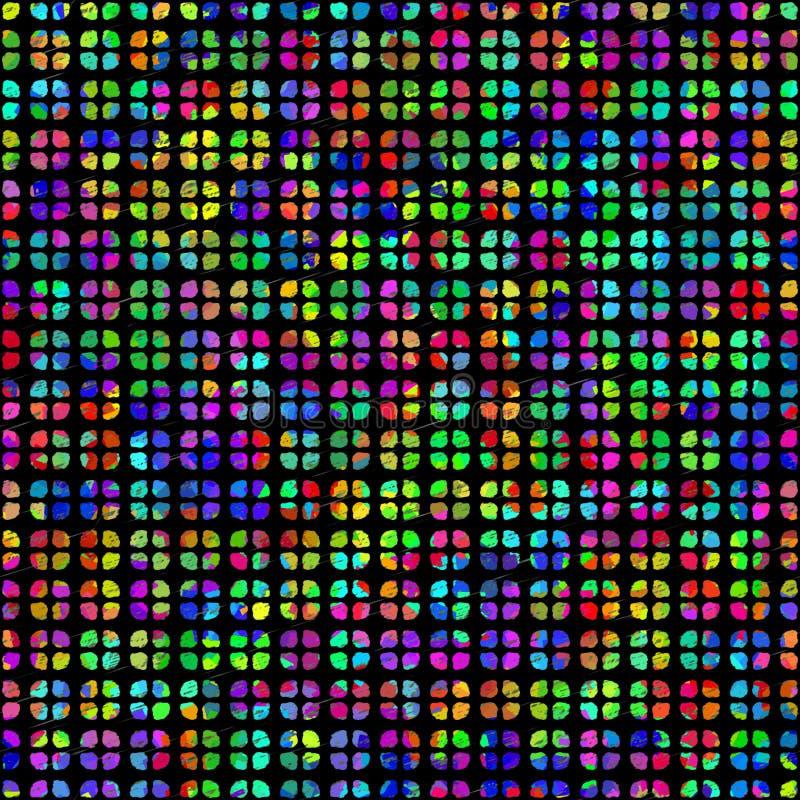 Naadloos abstract regenboogtextuur of patroon stock illustratie